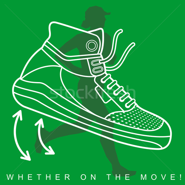 ストックフォト: スポーツ · 靴 · テクスチャ · シルエット · 運動