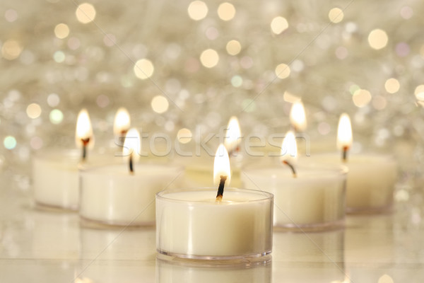 Group of tea lights for holiday celebrations Stock photo © Sandralise