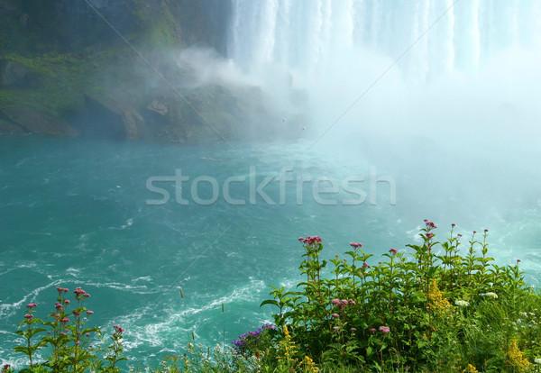 Klif Niagara Falls hemel water Stockfoto © Sandralise