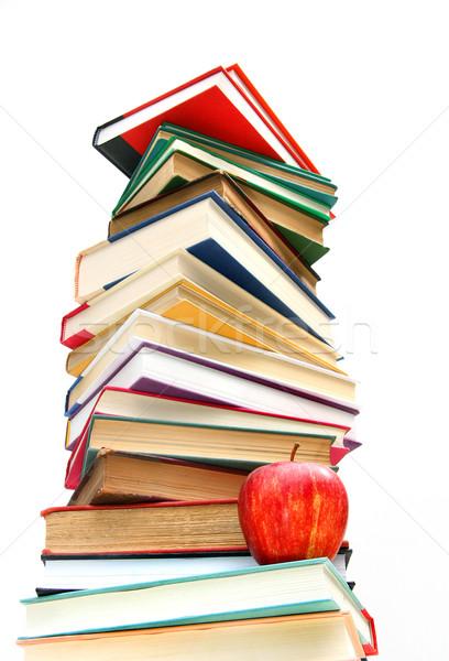 Large pile of books isolated on white  Stock photo © Sandralise