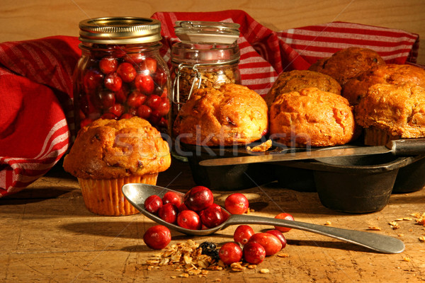 Delicious cranberry muffins  Stock photo © Sandralise