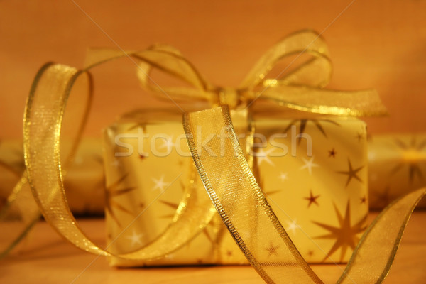 Gold wrappings Stock photo © Sandralise