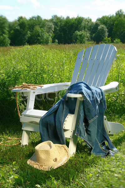 Jeans laying on chair  Stock photo © Sandralise