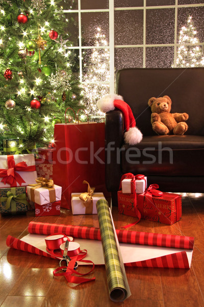 Christmas tree with gifts Stock photo © Sandralise
