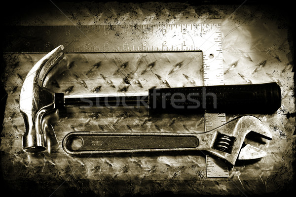 Grunge work tools Stock photo © Sandralise