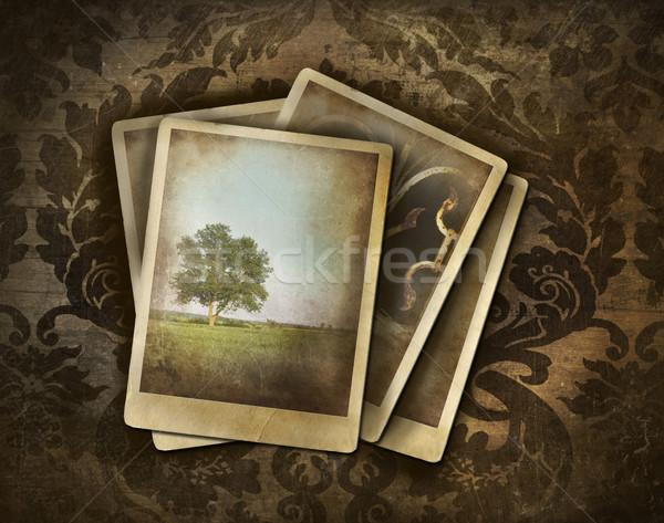 Foto stock: Vintage · fotos · escuro · damasco · textura · abstrato