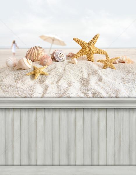 Summer wall background/backdrop Stock photo © Sandralise
