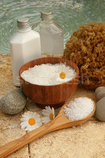 Still life of spa products and bath salts  Stock photo © Sandralise