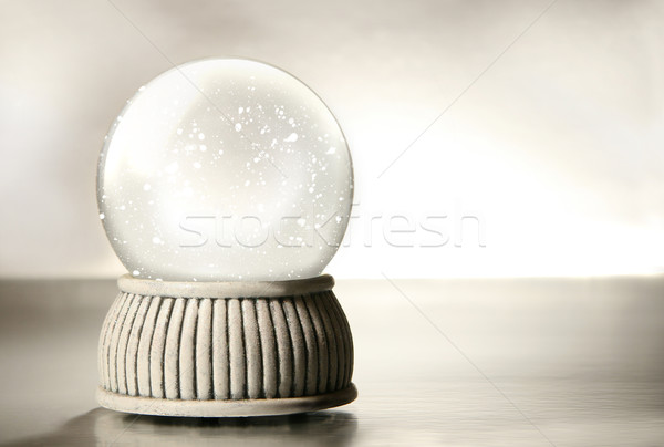 Snow globe against a silver background Stock photo © Sandralise