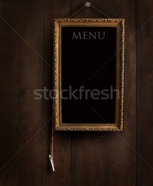Old chalkboard with copyspace for writing menu  Stock photo © Sandralise