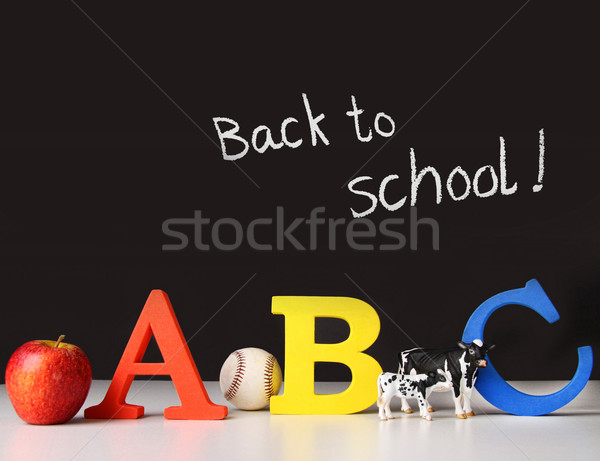 Back to school concept with abc letters Stock photo © Sandralise