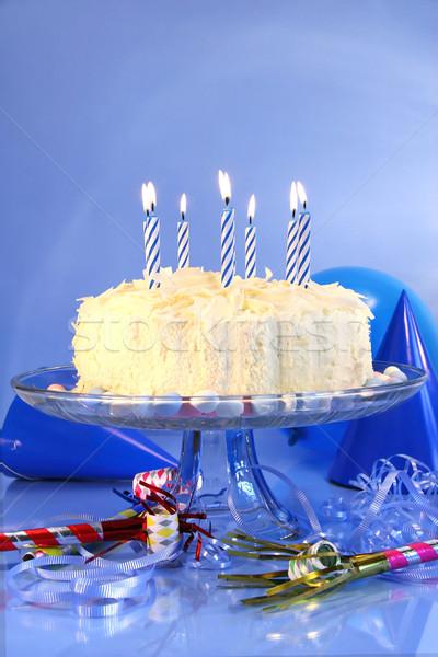 Blue birthday celebrations Stock photo © Sandralise