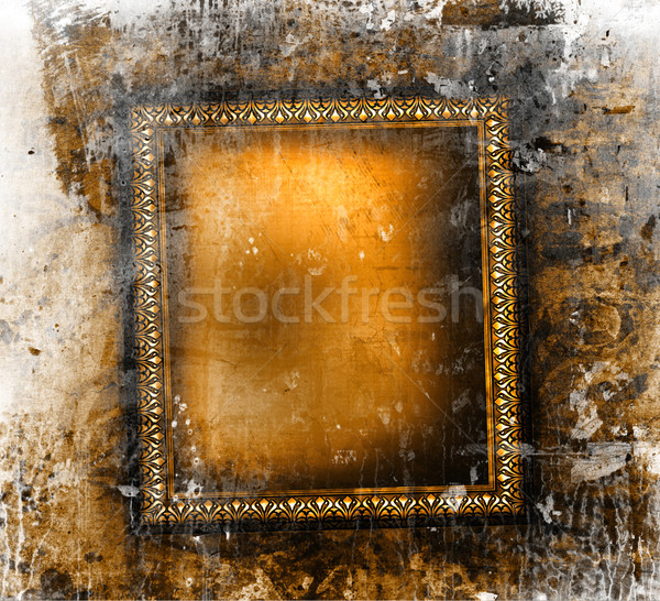 Gilded frame on grunge background  Stock photo © Sandralise
