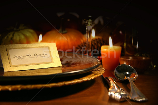 Table setting Stock photo © Sandralise