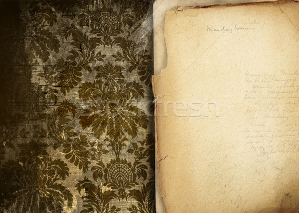 Vintage floral background with old papers  Stock photo © Sandralise