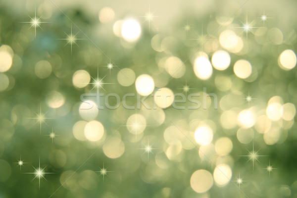 Abstract green background of holiday lights  Stock photo © Sandralise