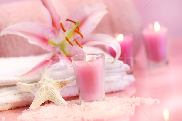 Pink soothing spa feeling Stock photo © Sandralise