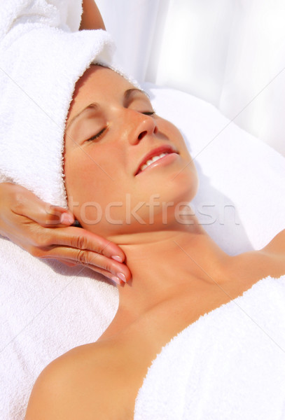 Pretty woman receiving massage  Stock photo © Sandralise