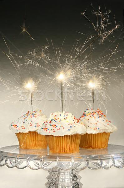 стекла торт стоять продовольствие счастливым Сток-фото © Sandralise