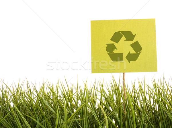 Green sign in the grass  Stock photo © Sandralise