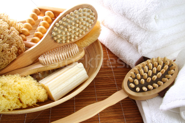 Assortment of spa brushes and accessories  Stock photo © Sandralise
