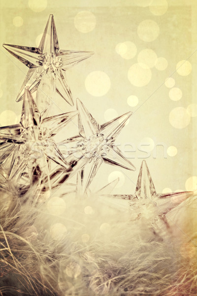 Holiday star lights with white background Stock photo © Sandralise
