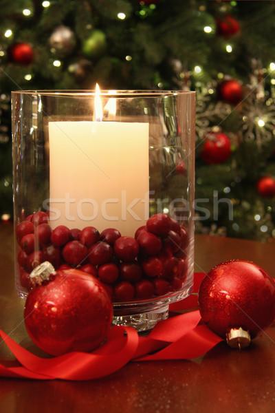 Christmas candle burning brightly  Stock photo © Sandralise