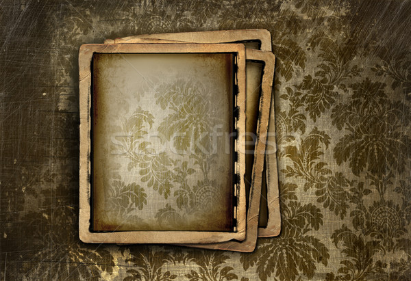 Vintage photo frame on floral background Stock photo © Sandralise