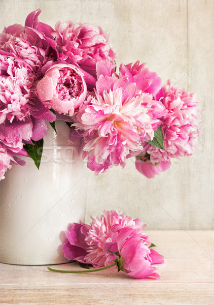 Pink peonies in vase  Stock photo © Sandralise
