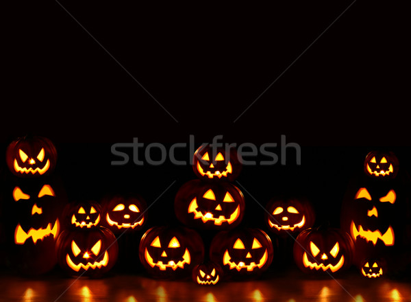 Lots of pumpkins lit brightly  Stock photo © Sandralise