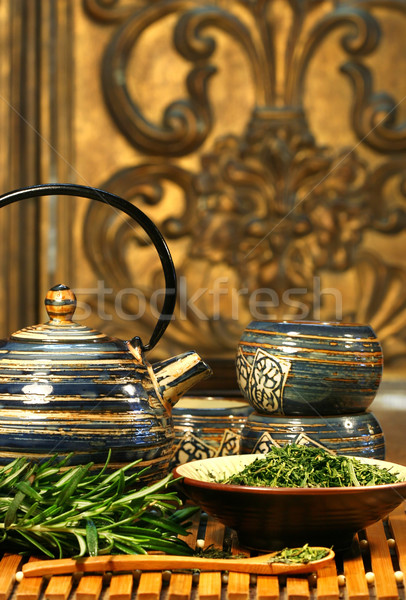 Dries herb leaves  Stock photo © Sandralise