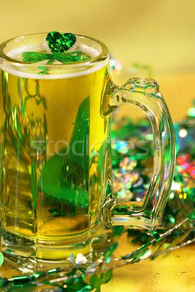 Verde shamrock birra mug party felice Foto d'archivio © Sandralise