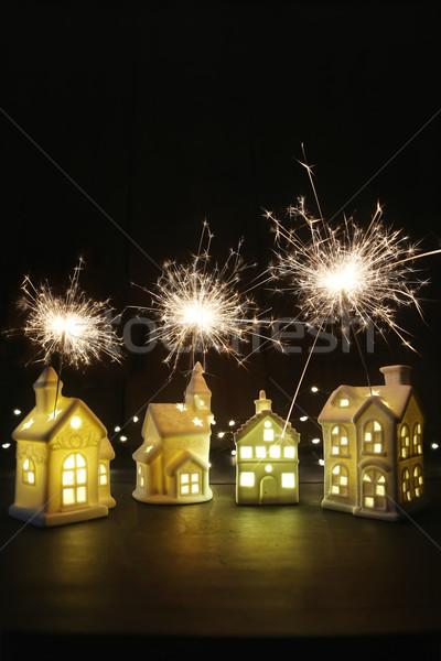 небольшой керамической домах фары домой праздник Сток-фото © Sandralise