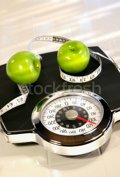 Weight scale with green apples Stock photo © Sandralise