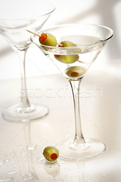 Martini and olives Stock photo © Sandralise