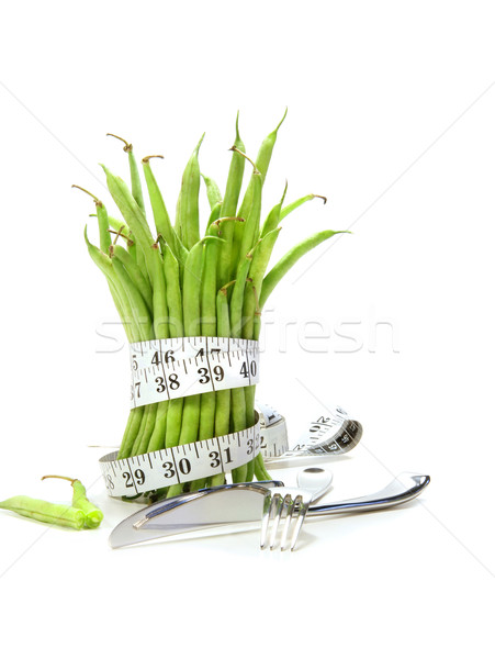 Unwashed green beans with cord and utensils  Stock photo © Sandralise