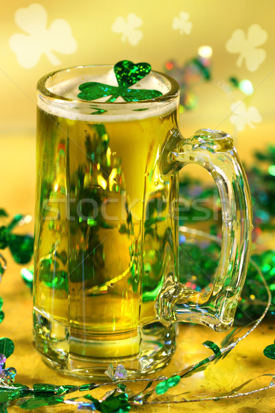 St Patrick's Day green beer Stock photo © Sandralise