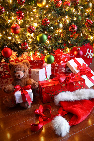 Gifts under the tree for Christmas Stock photo © Sandralise