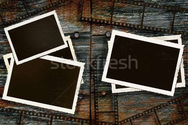 öreg fotók film rusztikus fa panel Stock fotó © Sandralise
