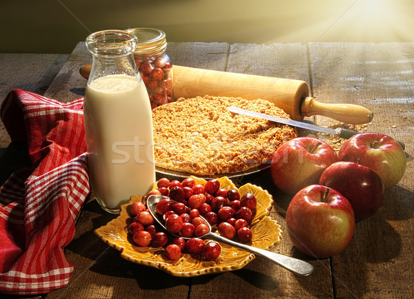 Freshley baked apple and cranberry pie  Stock photo © Sandralise