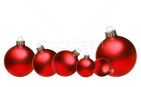Foto stock: Navidad · vidrio · aislado · blanco