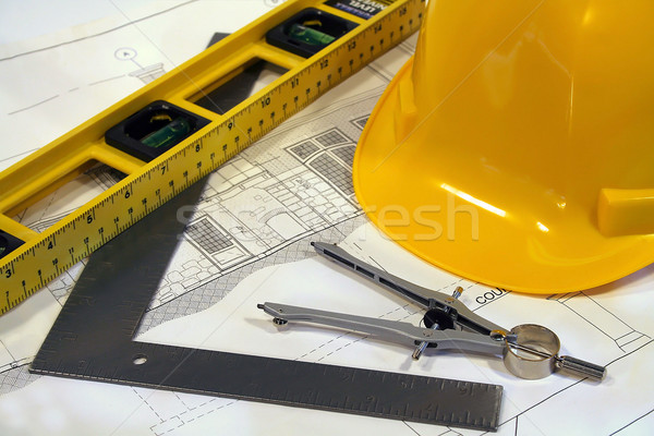 Architectural plans and tools for remodeling a home  Stock photo © Sandralise