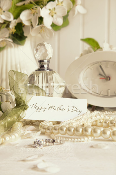 Note card with jewelry for Mother's day Stock photo © Sandralise