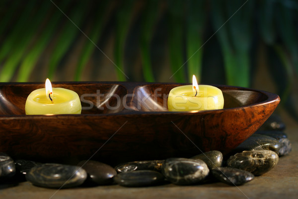 Massage stones and spa candles  Stock photo © Sandralise