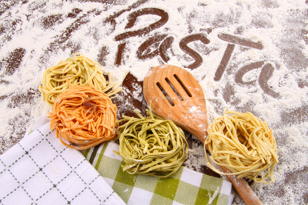 Assortment of colored italian pasta Stock photo © Sandralise