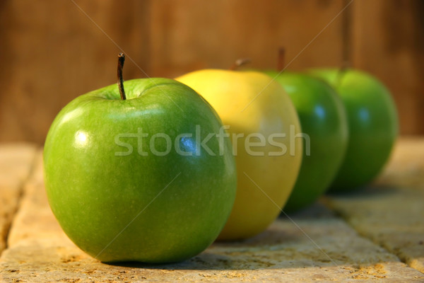 Close-up of green and yellow apples Stock photo © Sandralise
