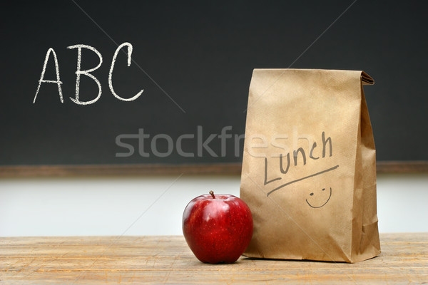 Paper lunch bag on desk  Stock photo © Sandralise