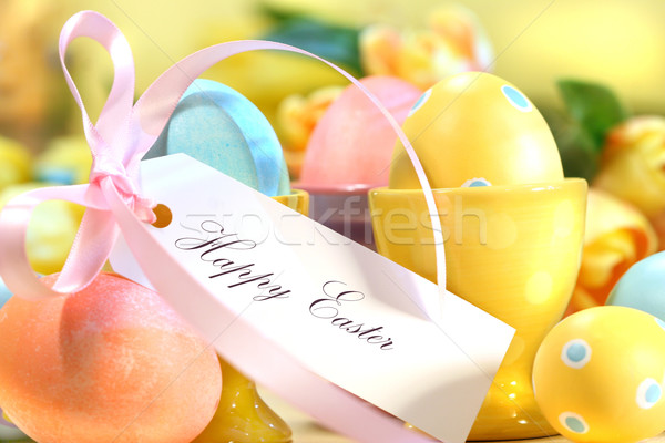 Festive easter eggs Stock photo © Sandralise