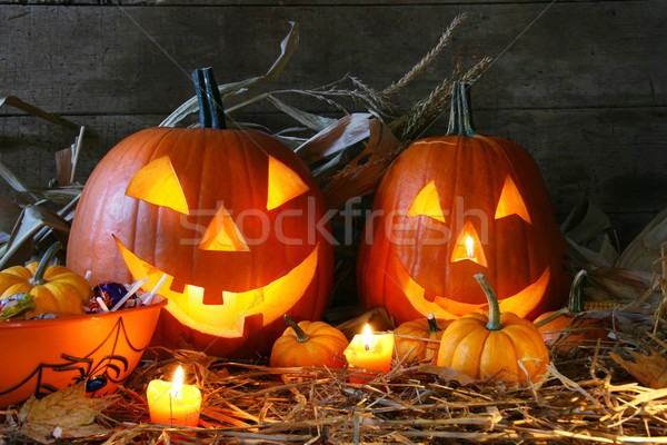 Carved jack-o-lanterns  Stock photo © Sandralise