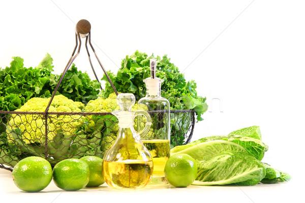 Photo stock: Jardin · fraîches · salade · pétrolières · lumière · fruits